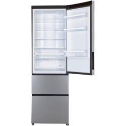 Réfrigérateur Haier A2FE635CSJ - Réfrigérateur/congélateur - pose libre - largeur : 59.5 cm - profondeur : 67.2 cm - hauteur : 190.5 cm - 347 litres - congélateur bas - classe A+ - argenté(e)