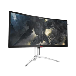 "Écran LED AOC Gaming AGON series AG352QCX - Écran LCD - incurvé - 35"" (35"" visualisable) - 2560 x 1080 - MVA - 300 cd/m² - 2000:1 - 4 ms - HDMI, MHL, DVI, DisplayPort, VGA - haut-parleurs - Noir/argent"