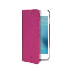 Housse CELLY Air Pelle AIRPELLE800PK - Protection à rabat pour téléphone portable - cuir véritable - pour Apple iPhone 7