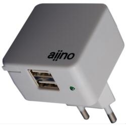 Chargeur Aiino DOUBLE USB WALL CHARGER - Adaptateur secteur - 1 A - 2 connecteurs de sortie - blanc