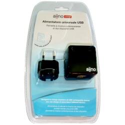 Chargeur Aiino DOUBLE USB WALL CHARGER - Adaptateur secteur - 1 A - 2 connecteurs de sortie - noir