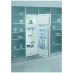 Réfrigérateur intégrable Whirlpool ART 367/A+ - Réfrigérateur/congélateur - intégrable - largeur : 57.8 cm - profondeur : 58.8 cm - hauteur : 161.8 cm - 240 litres - congélateur haut - classe A+ - blanc