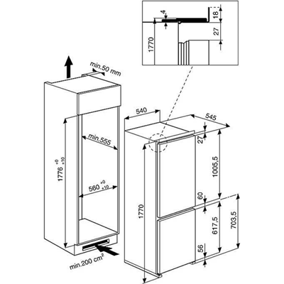 FRIGORIFERO DA INCASSO ART453/A+ - Whirlpool - Monclick - ART453/APIU