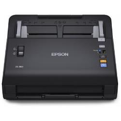 Scanner Epson WorkForce DS-860N - Scanner de documents - Recto-verso - A4 - 600 ppp x 600 ppp - jusqu'à 65 ppm (mono) / jusqu'à 65 ppm (couleur) - Chargeur automatique de documents ( 80 feuilles ) - jusqu'à 6000 pages par jour - LAN