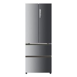 Réfrigérateur Haier B3FE742CMJ - Réfrigérateur/congélateur - pose libre - largeur : 70 cm - profondeur : 67.6 cm - hauteur : 190.5 cm - 426 litres - style français - Classe A++ - argenté(e)