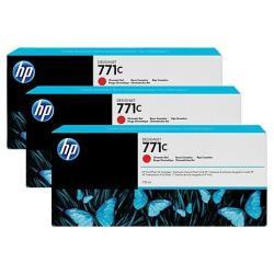 Cartouche HP 771C - Pack de 3 - 775 ml - rouge chromatique - originale - cartouche d'encre - pour DesignJet Z6200