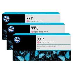 Cartouche HP 771C - Pack de 3 - 775 ml - magenta clair - originale - cartouche d'encre - pour DesignJet Z6200