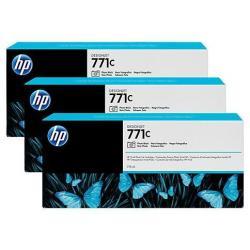 Cartouche HP 771C - Pack de 3 - 775 ml - photo noire - originale - cartouche d'encre - pour DesignJet Z6200