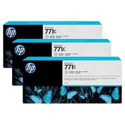 Cartouche HP 771C - Pack de 3 - 775 ml - gris clair - originale - cartouche d'encre - pour DesignJet Z6200