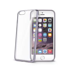 Coque CELLY LASER - Coque de protection pour téléphone portable - caoutchouc - transparent, métal - pour Apple iPhone 6, 6s