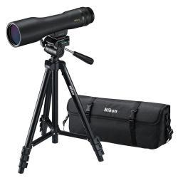 Lunette terrestre Nikon ProStaff 3 Fieldscope - Portée du repérage 16-48 x 60 - antibuée, Etanche, zoom