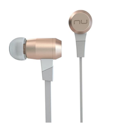 NuForce BE6i - �couteurs avec micro - intra-auriculaire - sans fil - Bluetooth - or