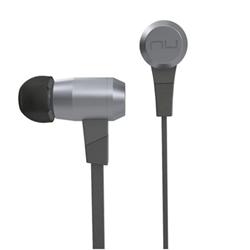 NuForce BE6i - Écouteurs avec micro - intra-auriculaire - sans fil - Bluetooth - gris