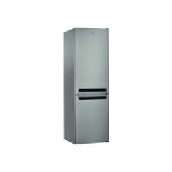 Réfrigérateur Whirlpool BLFV8121OX - Réfrigérateur/congélateur - pose libre - largeur : 59.5 cm - profondeur : 65.5 cm - hauteur : 188.5 cm - 338 litres - congélateur bas - classe A+ - inox optique