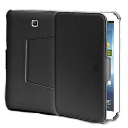 Coque CELLY BOOKTABT11 - Protection à rabat pour tablette - cuir écologique - noir - pour Samsung Galaxy Tab 3 (10.1 po)