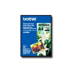 Papier Brother BP 60MA Matte Inkjet Paper - Mat - A4 (210 x 297 mm) - 145 g/m² - 25 feuille(s) papier - pour Brother MFC-J6580, J6980, J6995, J737, J837, J907, J997; INKvestment Work Smart MFC-J985