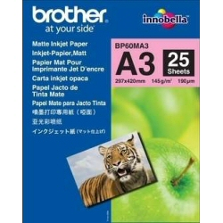 Papier Brother BP - Mat - A3 Nobi (328 x 453 mm) 25 feuille(s) papier - pour Brother MFC-J6580, J6980, J6995; INKvestment Business Smart Pro MFC-J6935