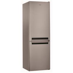 Réfrigérateur Whirlpool BSNF 8152 OX - Réfrigérateur/congélateur - pose libre - largeur : 59.5 cm - profondeur : 65.5 cm - hauteur : 188.5 cm - 316 litres - congélateur bas - Classe A++