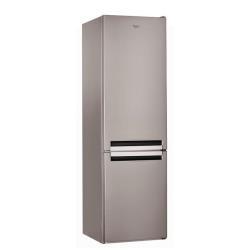Réfrigérateur Whirlpool BSNF 9123 OX - Réfrigérateur/congélateur - pose libre - largeur : 60 cm - profondeur : 60 cm - hauteur : 201 cm - 349 litres -
