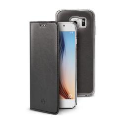 Housse CELLY BUDDY BUDDYGS6BK - Protection à rabat pour téléphone portable - synthétique - pour Samsung Galaxy S6
