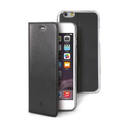 Housse CELLY BUDDY - Protection à rabat pour téléphone portable - synthétique - noir - pour Apple iPhone 6s Plus