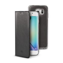 Housse CELLY BUDDY BUDDYS6EBK - Protection à rabat pour téléphone portable - synthétique - pour Samsung Galaxy S6 edge