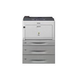 Imprimante laser Epson AcuLaser C9300D2TN - Imprimante - couleur - Recto-verso - laser - A3/Ledger - 1200 ppp - jusqu'à 30 ppm (mono) / jusqu'à 30 ppm (couleur) - capacité : 1505 feuilles - USB, Gigabit LAN