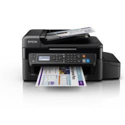 Imprimante  jet d'encre multifonction Epson EcoTank ET-4500 - Imprimante multifonctions - couleur - jet d'encre - A4/Legal (support) - jusqu'à 33 ppm (impression) - 100 feuilles - 33.6 Kbits/s - USB, LAN, Wi-Fi