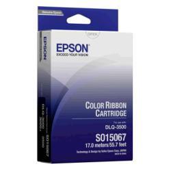 Ruban Epson - 1 - couleur (cyan, magenta, jaune, noir) - 24 pin - ruban tissu - pour DLQ 3000, 3000+, 3500
