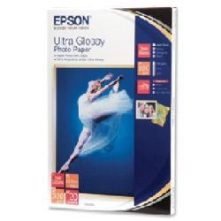 Papier Epson Ultra Glossy Photo Paper - Papier photo - brillant - 100 x 150 mm 20 feuille(s) - pour Expression Home XP-245, 342, 442; Expression Premium XP-540; SureColor P800