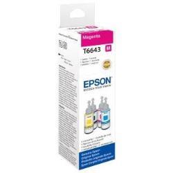 Epson T6643 - 70 ml - magenta - recharge d'encre - pour Epson L382, L386, L486; EcoTank ET-2600, 2650, L310, L375; Expression ET-2600, 2650