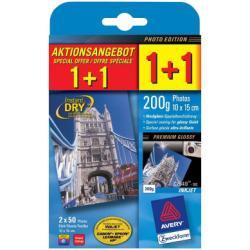 Papier Avery Premium C2549 - Papier photo - brillant - 100 x 150 mm - 200 g/m² - 100 feuille(s)