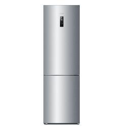 Réfrigérateur Haier C2FE637CFJ - Réfrigérateur/congélateur - pose libre - largeur : 59.5 cm - profondeur : 67 cm - hauteur : 199.8 cm - 374 litres - congélateur bas - classe A+ - finition inox
