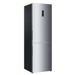 Réfrigérateur Haier C2FE736CFJ - Réfrigérateur/congélateur - pose libre - largeur : 60 cm - profondeur : 67 cm - hauteur : 190 cm - 352 litres - congélateur bas - Classe A++ - finition inox