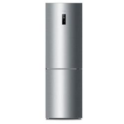 Réfrigérateur Haier C2FE-836CFJ - Réfrigérateur/congélateur - pose libre - largeur : 60 cm - profondeur : 67 cm - hauteur : 190 cm - 352 litres - congélateur bas - Classe A+++ - acier VCM