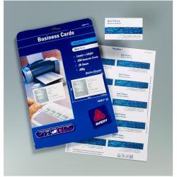 Cartes de visite Avery Quick&Clean - Cartes de visite - blanc - 200 g/m² - 25 unités 250 )