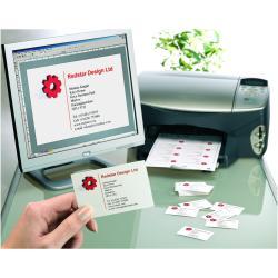 Cartes de visite Avery Quick&Clean - Cartes de visite - blanc - 220 g/m² - 25 unités 250 )