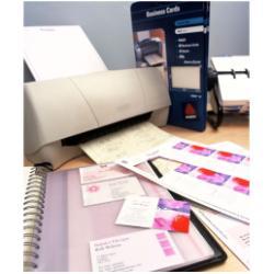 Cartes de visite Avery Quick&Clean - Papier - brillant - blanc - 220 g/m² - 25 unités 200)