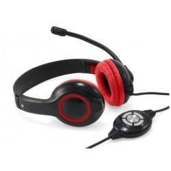 Conceptronic CCHATSTARU2R - Casque - sur-oreille - USB - noir, rouge