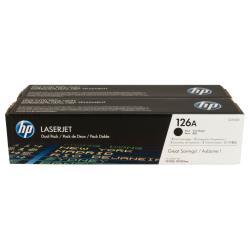 Toner HP 126A - Pack de 2 - noir - originale - LaserJet - cartouche de toner (CE310AD) - pour Color LaserJet Pro CP1025; LaserJet Pro MFP M175; TopShot LaserJet Pro M275