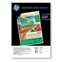 Papier HP Professional Glossy Paper - Papier photo - brillant - A4 (210 x 297 mm) - 200 g/m² - 100 feuille(s) - pour LaserJet Enterprise 600 M601; LaserJet Pro 400 M401, MFP M175, MFP M26, MFP M274, MFP M277