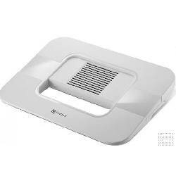 """Support pour LCD Choiix Air Through Stash Notebook Cooling Pad - Support pour ordinateur portable - avec concentrateur USB 3 ports, ventilateur de refroidissement - 15"""" - blanc"""