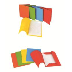 Porte-documents CARTIERA DI VARESE - Chemise à 3 rabats - 220 x 300 mm - jaune (pack de 50)