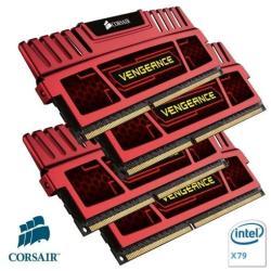Barrette RAM Corsair Vengeance - DDR3 - 32 Go : 4 x 8 Go - DIMM 240 broches - 1866 MHz / PC3-15000 - CL10 - 1.5 V - mémoire sans tampon - non ECC