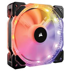 Ventilateur Corsair Air Series LED HD120 RGB High Performance - Ventilateur châssis - 120 mm - blanc, bleu, jaune, rouge, vert, orange, violet (pack de 3)