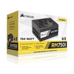 Alimentation PC Corsair RMi Series RM750i - Alimentation (interne) - ATX12V 2.4/ EPS12V 2.92 - 80 PLUS Gold - CA 100-240 V - 750 Watt - Europe