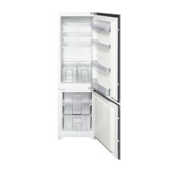 Réfrigérateur intégrable Smeg CR312AP1 - Réfrigérateur/congélateur - intégrable - niche - largeur : 56 cm - profondeur : 55 cm - hauteur : 177 cm - 226 litres - congélateur bas - classe A+