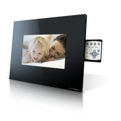 Cadre numérique Intreeo DFF-Z090 - Cadre numérique - flash 16 Mo