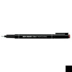 Stylo KOH-I-NOOR PROFESSIONAL Fiber - Feutre fin - noir - encre pigmentée - 0.5 mm