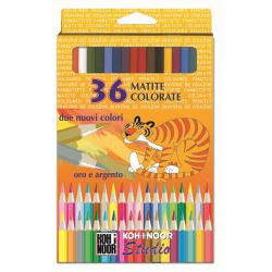 Crayon KOH-I-NOOR STUDIO GOLD NAME - Crayon de couleur - couleurs assorties - 3.3 mm - pack de 36